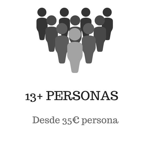+ de 13 pax